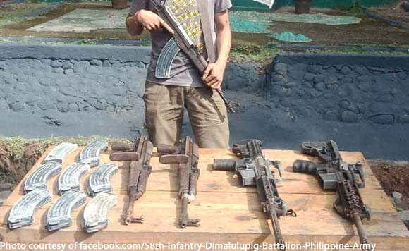 NPA commander sumuko! Army recovers arms cache in Misamis Oriental